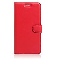 billiga Mobil cases & Skärmskydd-fodral Till Asus ZenFone Max ZC550KL / Asus Zenfone 2 Laser ZE550KL / Asus Asus-fodral Korthållare / med stativ / Lucka Fodral Enfärgad Hårt PU läder för Asus ZenFone selfie ZD551KL / Asus ZenFone GO