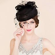 cheap Wedding Headpieces-Tulle Flax Fascinators Hats Birdcage Veils 1 Wedding Special Occasion Casual Headpiece