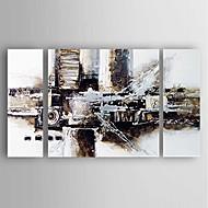 Maalattu Abstrakti Vaakasuora,Moderni 3 paneeli Kanvas Hang-Painted öljymaalaus For Kodinsisustus