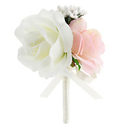 "Bouquets de Noiva Forma-Livre Rosas Alfinetes de Lapela Casamento Festa / noite Cetim 3.15""(Aprox.8cm)"