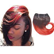 Ombre שיער ברזיאלי גלי שלושה חודשים 4 חלקים שוזרת שיער