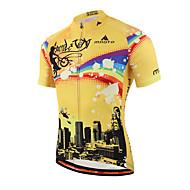 Miloto Homens Manga Curta Camisa para Ciclismo Moto Camisa / Roupas Para Esporte, Secagem Rápida, Respirável, Redutor de Suor