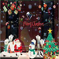 アートデコ コンテンポラリー ウインドウステッカー,PVC /ビニール 材料 窓の飾り