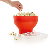 cheap -Microwave Popcorn Maker Silicone Pop Corn Bowl Bucket with Lid  Kitchen Baking Tools