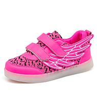 tanie Obuwie chłopięce-Dla chłopców Obuwie PU Wiosna Wygoda / Świecące buty Adidasy Spacery LED na Czarny / Fuksja / Jasnozielony