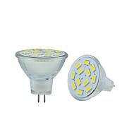 billige Bi-pin lamper med LED-2.5W 250-300 lm GU4(MR11) LED-lamper med G-sokkel MR11 12 leds SMD 5730 Dekorativ Varm hvit Kjølig hvit DC 12 V