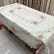cheap Table Linens-Polyester Rectangular Table Cloth Floral Patterned Eco-friendly Table Decorations