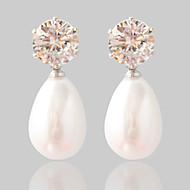 Oorbel Ovalen vorm Sieraden 1 paar Modieus Bruiloft / Feest Legering Dames Zilver