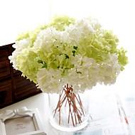 1 Gren Polyester Hortensiaer Bordblomst Kunstige blomster 33(12.9'')