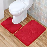 מקובל בסגנון פוליאסטר שטיחים אמבטיה להגדיר (2 חתיכות 40 * 50cm + 50 * 80cm)