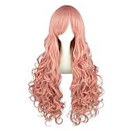 One Piece Perona Men's Women's 36 inch Heat Resistant Fiber Pink Anime Cosplay Wigs