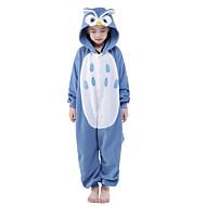 Kigurumi Pijama Baykuş Tulum Pijamalar Kostüm Kadife Mink Mavi Cosplay İçin Çocuk Hayvan Sleepwear Karikatür cadılar bayramı Festival /