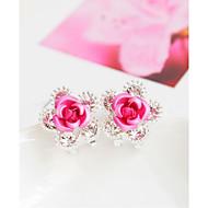 Modieus Legering Bloemvorm Paars Rood Blauw Roze Sieraden Voor Bruiloft Feest 1 paar