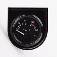 """2 """"calibrador del temp temperatura del aceite puntero del coche universal de 52mm 12v 40-120 llevado blanco"""