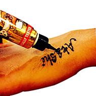 1 Lemosható festékek Non Toxic HennaBaba Gyerek Női Girl Férfi Felnőtt Boy Tini flash-Tattoo ideiglenes tetoválás