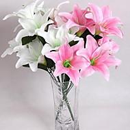 4clor skjerm utskrift høy imitasjon parfyme lilje blomster hjemme dekorasjon
