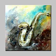 billiga Stilleben-Hang målad oljemålning HANDMÅLAD - Abstrakt / Stilleben Moderna Med Ram