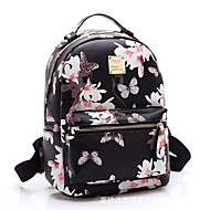 Women Bags All Seasons Polyester Backpack School Bag Travel Bag for Casual Sports Outdoor White Black