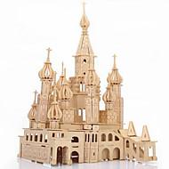 Χαμηλού Κόστους Μοντέλα και μοντέλα-Παζλ 3D / Παζλ / Ξύλινα παζλ Κάστρο / Διάσημο κτίριο Φτιάξτο Μόνος Σου / Προσομοίωση Ξύλινος 1 pcs Παιδικά / Ενηλίκων Δώρο