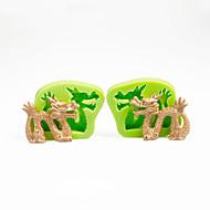 tanie Formy do ciast-Forma do pieczenia Cartoon Shaped Czekoladowy Placek Tort Silikonowy DIY Urodziny Wysoka jakość