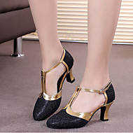 billige Moderne sko-Dame Moderne sko Glimtende Glitter Høye hæler Spenne / Uthult Kustomisert hæl Kan spesialtilpasses Dansesko Brun / Gylden / Lyseblå / Innendørs / Ytelse