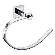 Pierścień na ręczniki chrom naścienna mosiężne akcesoria wieszak na ręczniki łazienkowe