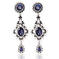 preiswerte Schmuck-1pair / bluehoop ohrringe forwomen hochzeit elegante weibliche stil
