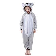 Kigurumi Pijama Koala Tulum Pijamalar Kostüm Polar Kumaş Gri Cosplay İçin Çocuk Hayvan Sleepwear Karikatür cadılar bayramı Festival /