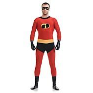 Kostium Zentai Skin Suit Super Heroes Dla dorosłych Kostiumy Cosplay Czerwony Patchwork Spandeks Lycra Męskie Damskie Halloween Karnawał Dzień Dziecka / Wysoka elastyczność