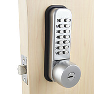 Mechanical Door Lock With Combination Digital Code Password Entry Lock For Home Security with 2 Keys