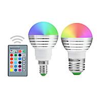 billige Globepærer med LED-YWXLIGHT® 300lm E14 E26 / E27 LED-globepærer A50 1 LED perler Integrert LED Mulighet for demping Dekorativ Fjernstyrt RGB 85-265V