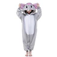 Kigurumi Pijamalar Yeni Cosplay® Fil Strenç Dansçı/Tulum Festival / Tatil Hayvan Sleepwear Halloween Gri Solid Polar Kumaş Kigurumi İçin