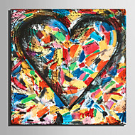 E-HOME® Stretched Canvas Art Abstract Love Pattern Decoration Painting  One Pcs