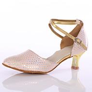 billige Moderne sko-Dame Moderne Kunstlær Høye hæler Innendørs Kustomisert hæl Rosa Kan spesialtilpasses