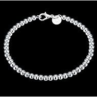 Dame Kæde & Lænkearmbånd Charm-armbånd På tværs Perler Klassisk kostume smykker Sølv Cirkelformet Smykker Smykker Til Bryllup Fest Daglig