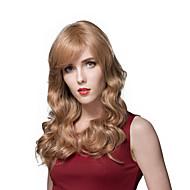 スムーズなエレガントな自然換気長い波状のかつらの人間の髪の毛