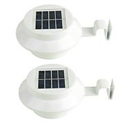 billige Utendørs Lampeskjermer-Jiawen 2pcs 3led sol gjerde lys solenergi gaten hage dekorasjon utendørs gjerd sti veggen vanntett