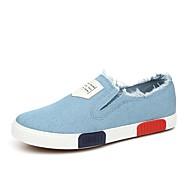 Bărbați Pantofi Flați Primăvară Confortabili Sintetic Pânză Outdoor Birou & Carieră Casual Toc Plat Altele Negru Albastru Alb