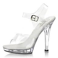 ieftine Pantofi Club-Pentru femei Pantofi PVC Primăvară / Vară Pantofi Usori / Pantofi Club Tocuri Toc Stilat / Heel translucid / Toc de Cristal Cataramă Alb