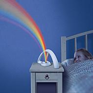 luz do arco-íris forma rgb para criança meninas levou projetor romântico projeção lâmpada lâmpadas luz noite atmosfera aaa