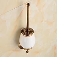 Tuvalet Fırçası Tutacağı Banyo Gereçleri / Parlatılmış Pirinç Antik