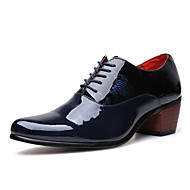 Men's Shoes PU Spring Fall Oxfords For Casual Party & Evening Black Dark Blue