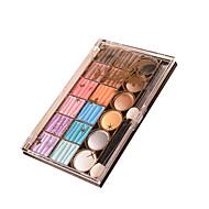 18 Paleta de Sombras Secos Paleta da sombra Pó Pressionado Maquiagem para o Dia A Dia Maquiagem para Dias das Bruxas Maquiagem de Festa