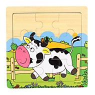 Brinquedo Educativo Quebra-Cabeça Brinquedos Madeira Desenhos Animados Peças Dom