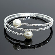 cheap Jewelry-Women's - Strand Tennis Round Bangles Silver Bracelet For Wedding Party Special Occasion