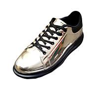 Χαμηλού Κόστους Rose Golden Sneakers-Ανδρικά Παπούτσια Λουστρίν Χειμώνας Σαμπό & Mules Μποτίνια Κορδόνια για Πάρτι & Βραδινή Έξοδος Μπλε Μπρονζέ Χρυσαφί