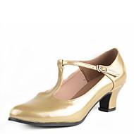 billige Moderne sko-Dame Moderne sko Kunstlær Høye hæler Spenne Lav hæl Kan ikke spesialtilpasses Dansesko Sølv / Fuksia / Gylden