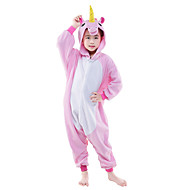 Kigurumi Pijamalar uçan At Unicorn Strenç Dansçı/Tulum Festival / Tatil Hayvan Sleepwear Halloween Pembe Mavi Solid Polar Kumaş Kigurumi