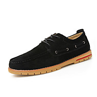 ieftine -Bărbați Pantofi Piele de Căprioară Primăvară Toamnă Confortabili Oxfords Plimbare Dantelă Pentru Casual Negru Maro Rosu Kaki