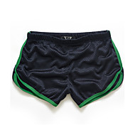 hesapli -Erkek Actif İnce Şortlar Pantolon Solid Zıt Renkli